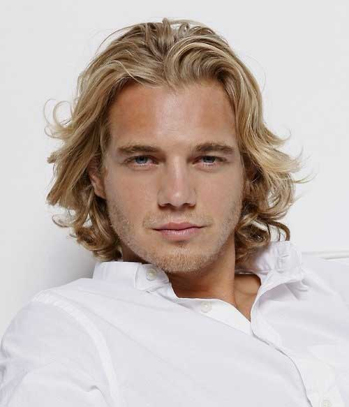 Stupendous Guys With Long Blonde Hair Mens Hairstyles 2016 Short Hairstyles Gunalazisus