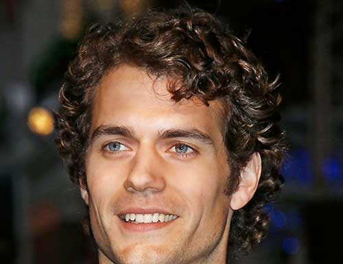 Cute Male Celebrities with Dark Brown Curly Hairstyles