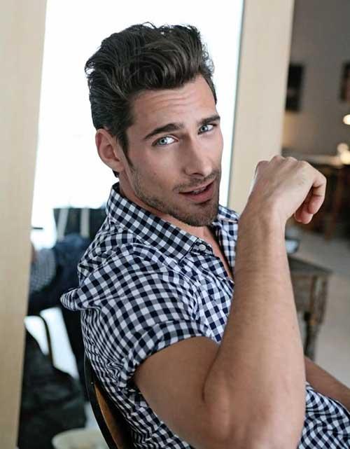 Dark Brown Wavy Short Hair Ideas for Guys