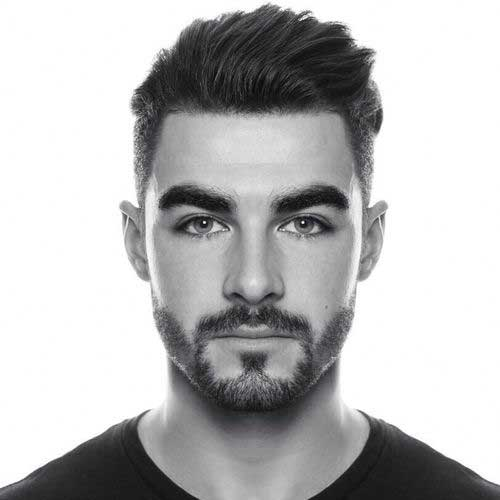 Dark Short Style Mens Haircut 2015