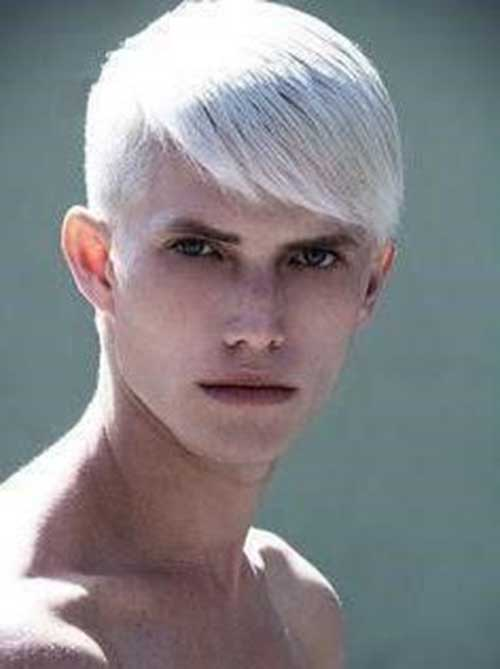 Different Platinum Hair Style Idea for Men