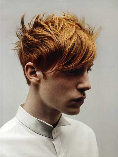 Ginger Emo Hairstyles for Men