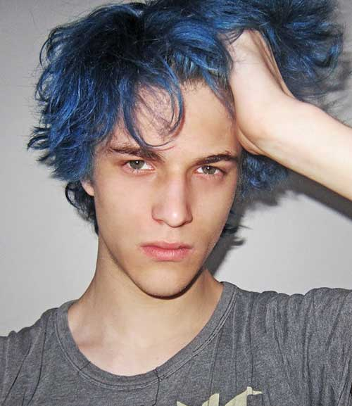boy with blue hair tumblr - photo #32