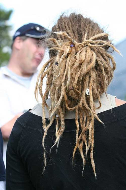 Guys with Long Blonde Dreadlock Hairstyles
