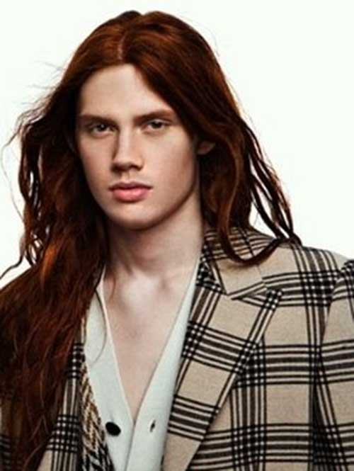 Guys with Red Long Hairstyles