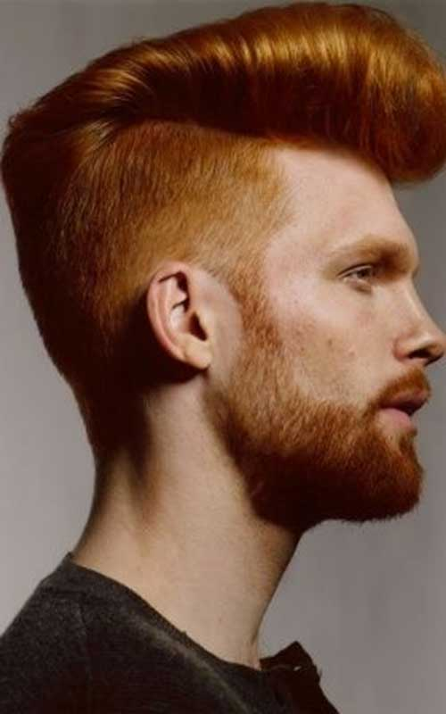 Guys with Short Red Mohawk Hairstyles
