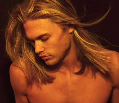 Guys with Straight Long Blonde Hair Ideas