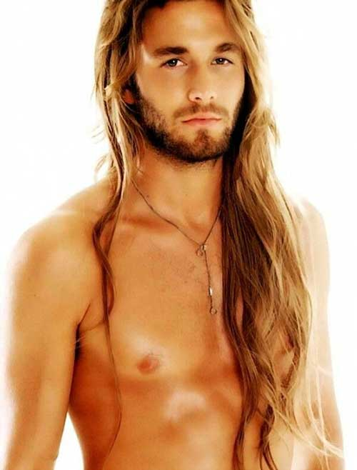 Guys with Very Long Blonde Hairstyles