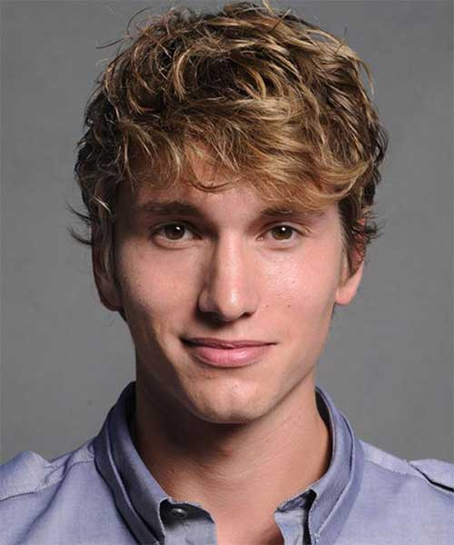 thick wavy blonde hair for menShort Wavy Hairstyles For Men 2014