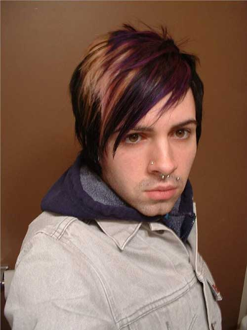 Highlighted Emo Hairstyles for Men