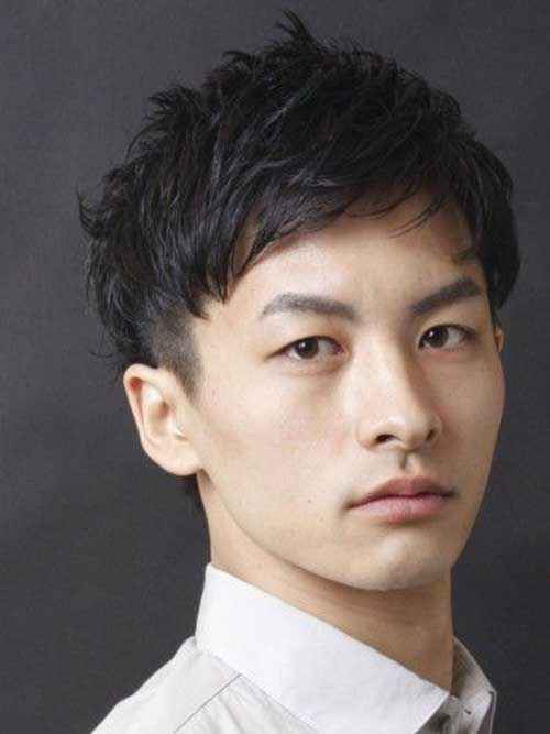 Japanese Short Dark Hair Idea for Men