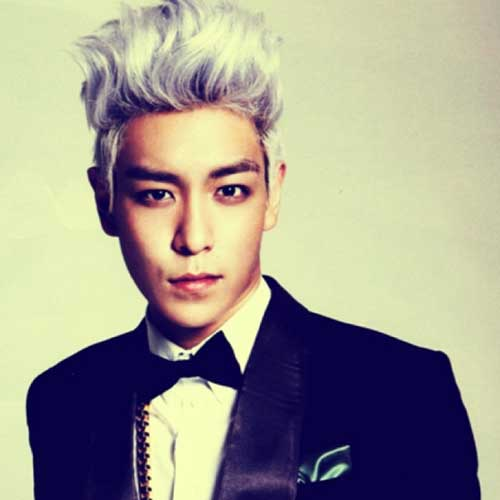 Korean Mens White Hairstyles