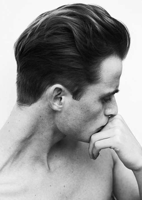 Latest Slicked Back Hair Style for Men