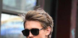 Blonde Layered Hairstyle Men