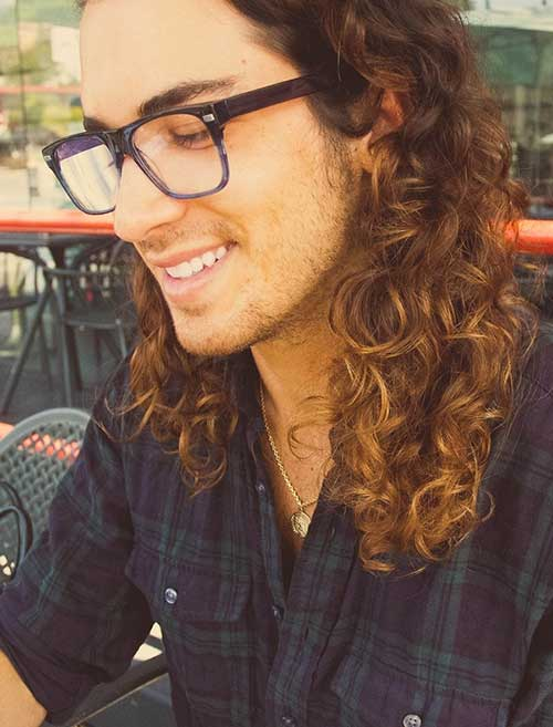 Long Curly Haircuts for Guys