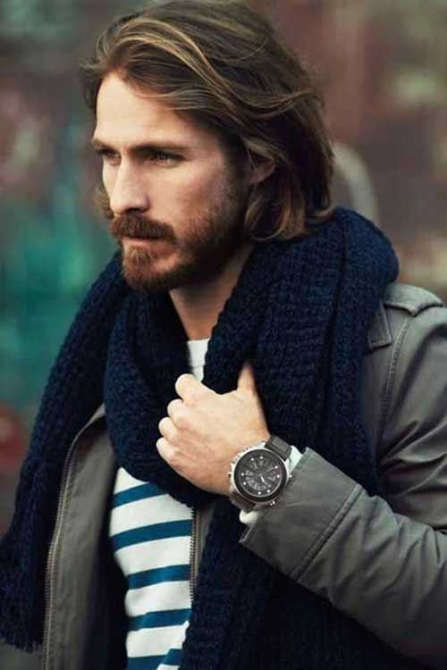 Long Dark Haircuts for Guys