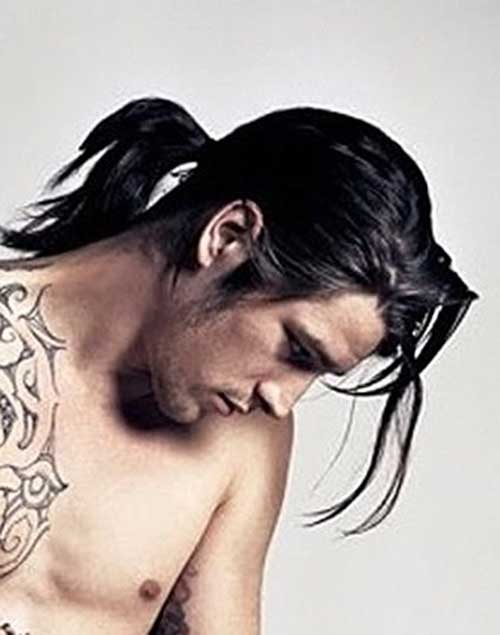 Long Ponytail Hairstyles for Men