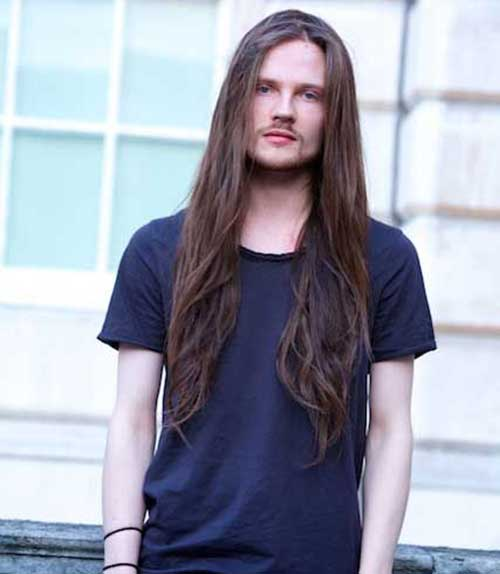 Long Straight Haircuts for Guys