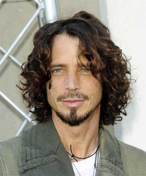 Male Celebrities with Curly Long Hairstyles