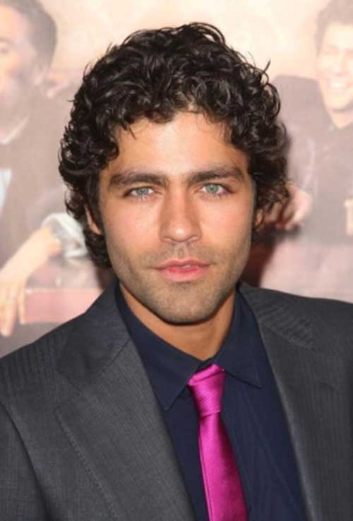 Male Celebrities with Curly Medium Hairstyles