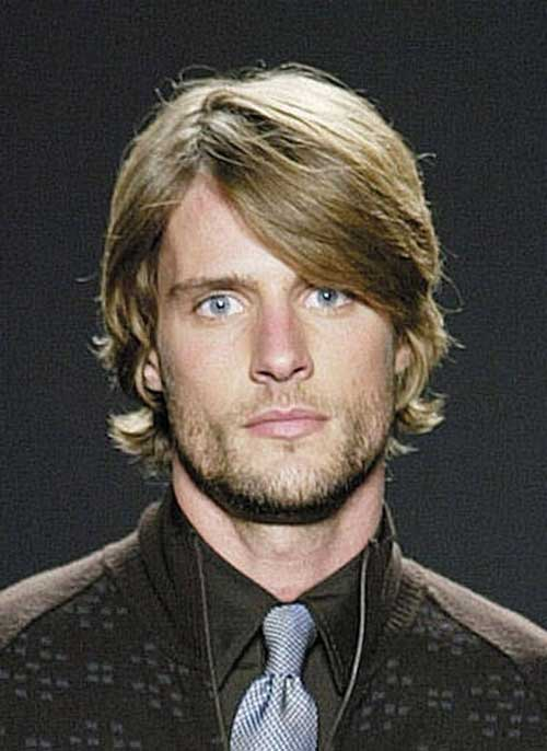 Medium Hairstyles for Round Faces Men