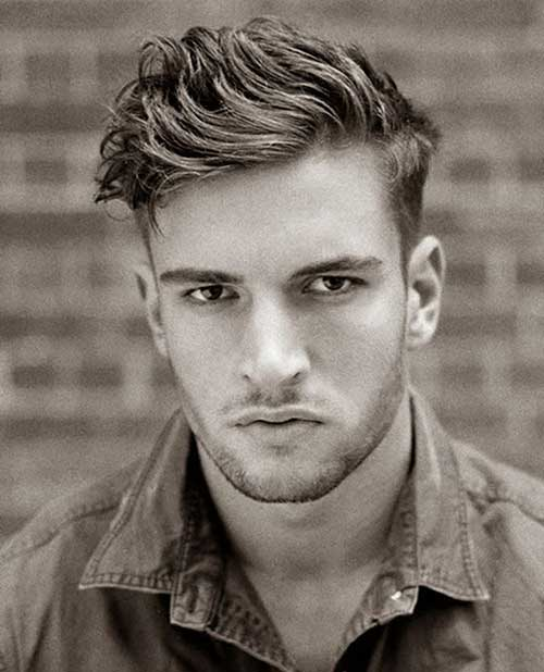 Men Casual Pompadour Hair Cuts