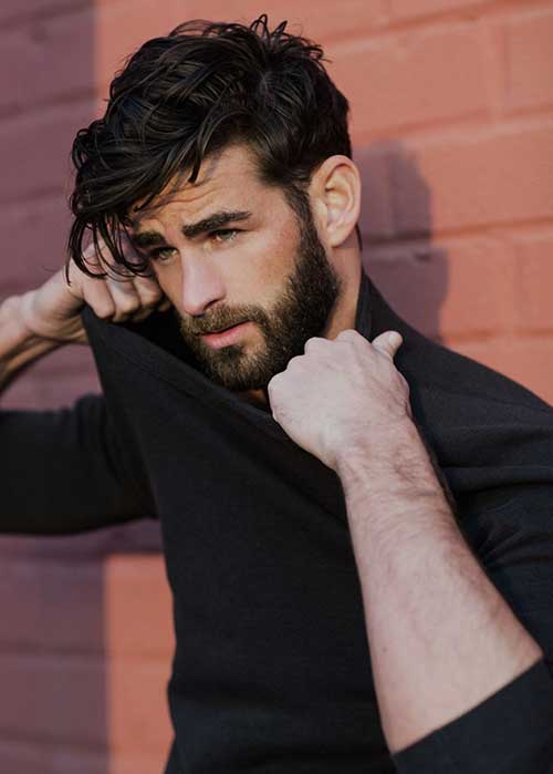 Men Cool Dark Hairstyles 2015