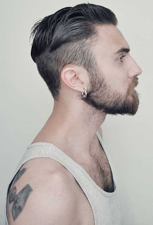 Men Pompadour Cuts Hair Side Look