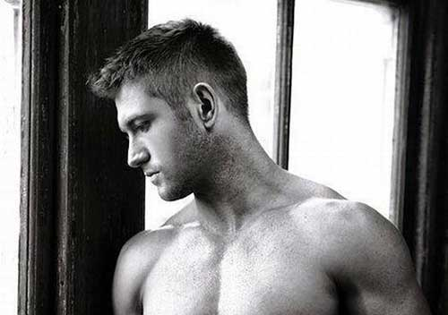 Men Short Faded Casual Hair Side View