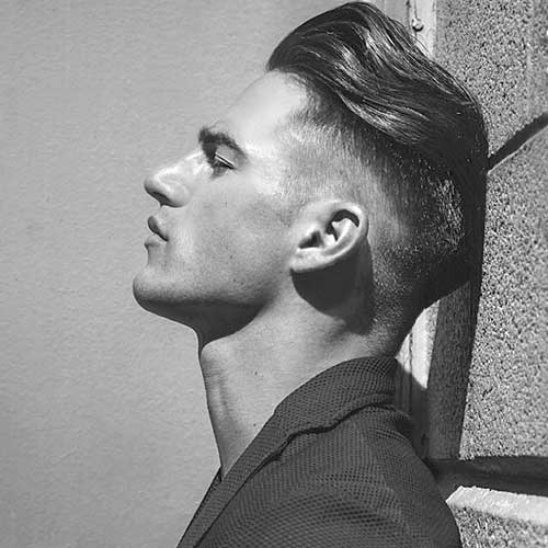 Men Slicked Back Undercut Hairstyles 2015