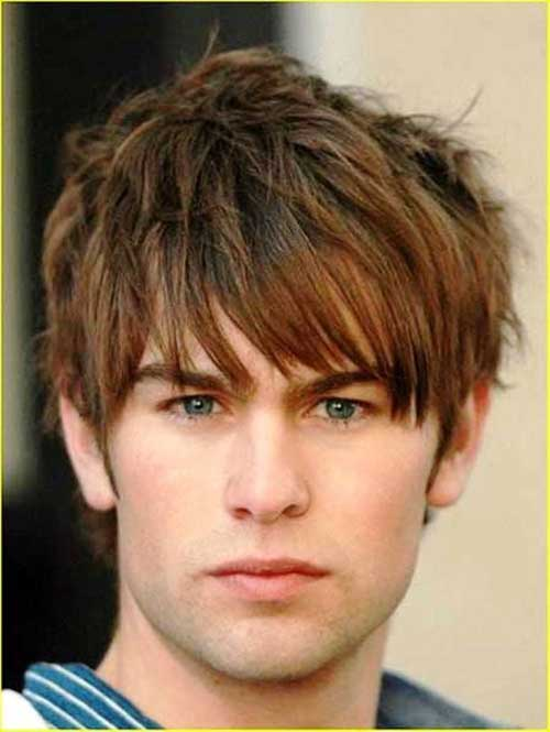 Men Straight Brown Hairstyles 2015