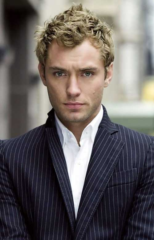 Men Thick Curly Short Hair