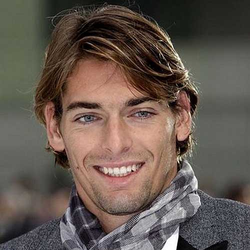 Men Thin Medium Hairstyle