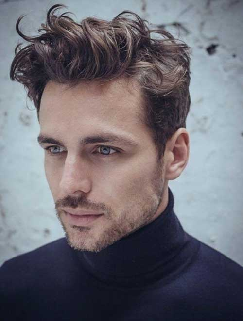 Men Wavy Pompadour Cuts Hairstyles