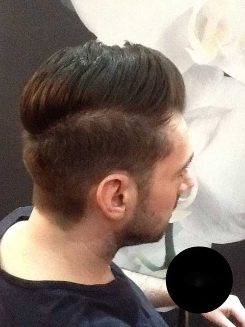 Mens Back Pompadour Hairstyle