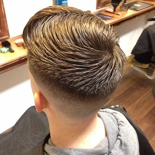 Mens Brown Hairstyles Short Back And Sides