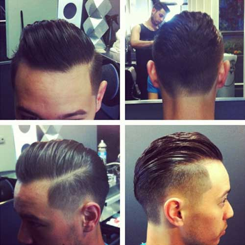 Mens Dark Hair with Fade Cut
