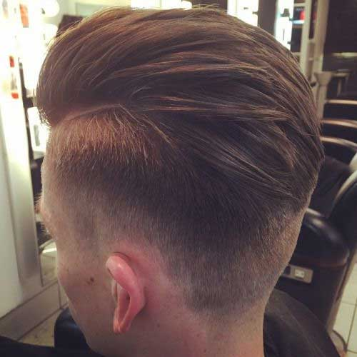 Mens Brown Hair Fade