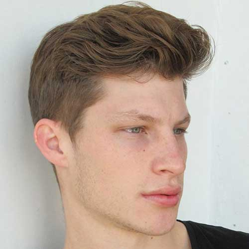 Mens Brown Hair Long On Top