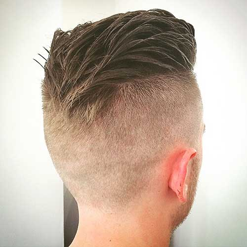 Mens Haircut Shaved Sides Back View