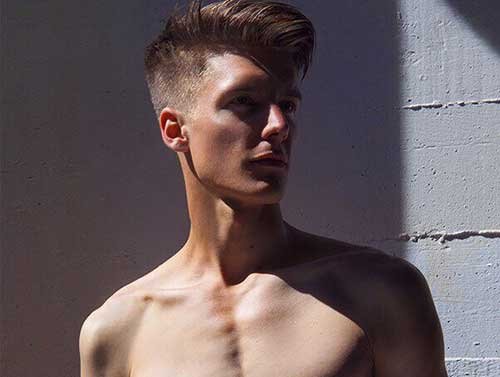 Long Hairstyles Mens Haircut Short On Sides Long On Top