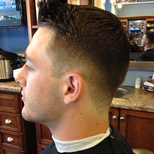 Mens Haircut with Faded Shaved Sides Ideas