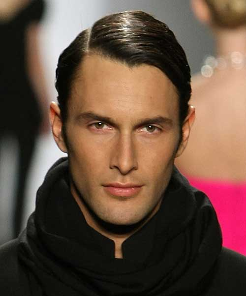 Mens Haircuts for Thin Side Swept Hairstyle