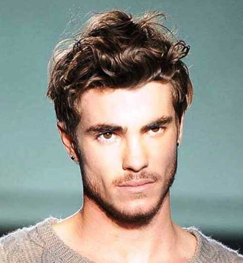 Mens Hairstyles for Thick Wavy Brown Hair