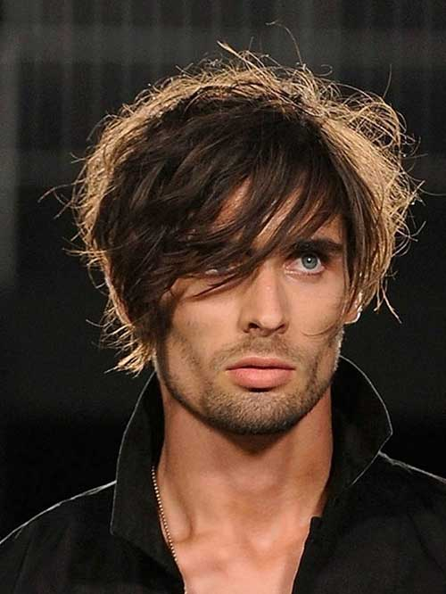 Mens Layered Medium Hairstyles