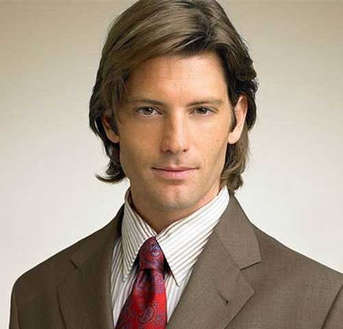 Mens Layered Medium Hairstyles Ideas