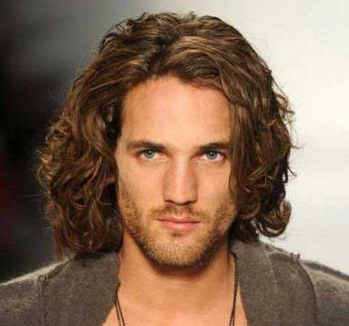 Mens Long Hairstyles for Thick Wavy Hair