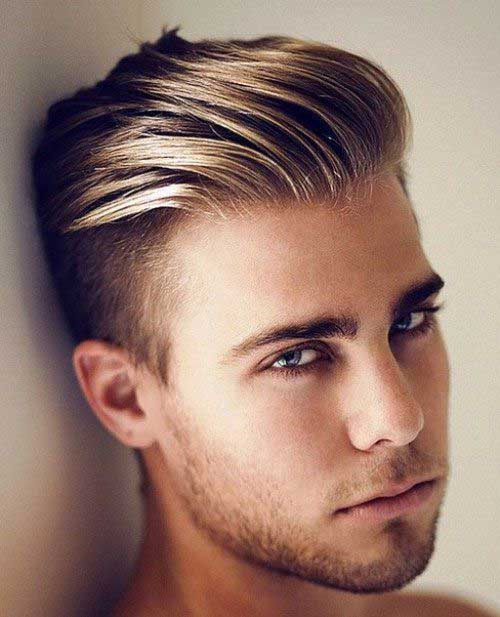 Mens New Hair Short Sides Long Top with Blonde