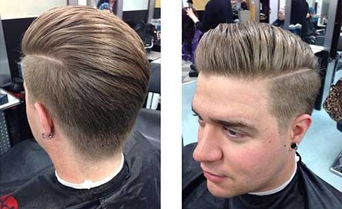 Mens Pompadour Haircut Styles 2015