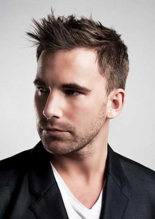 Mens Popular Spiky Brown Haircuts